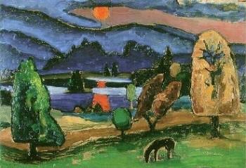 Gabriele Münter: Staffelsee mit Nebelsonne, 1931